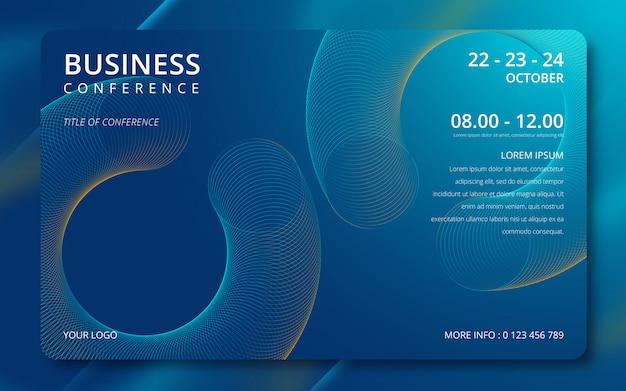 Invitación de plantilla simple conferencia de negocios.