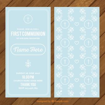 Invitación de primera comunión