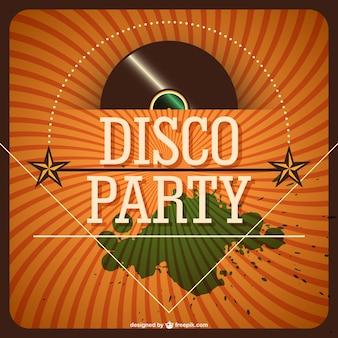Invitación Retro Para Fiesta Disco Vector Gratis