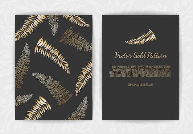 Invitación de tarjeta con elementos florales