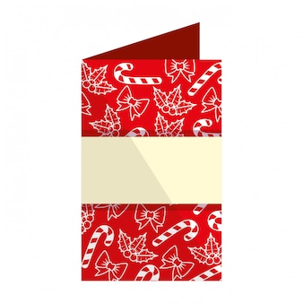 Invitación tarjeta de feliz navidad
