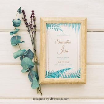Invitación tropical de boda