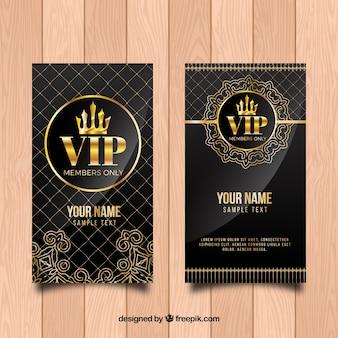 Invitación vintage dorada vip