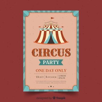 Invitación vintage de fiesta de circo