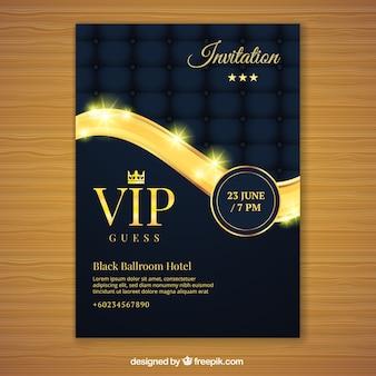 Invitación vip dorada