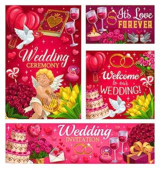 Invitaciones para guardar la fiesta de la fecha, el día de la boda,