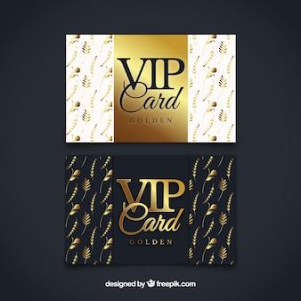 Invitaciones vip doradas y elegantes