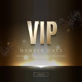 Invitaciones vip de lujo y fondos de cupones