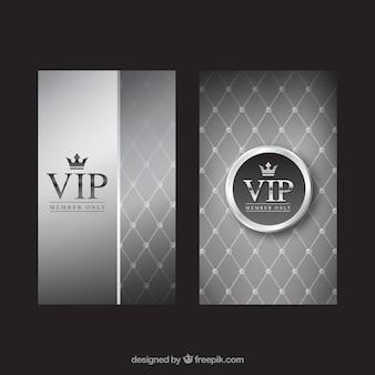 Invitaciones vip plateadas