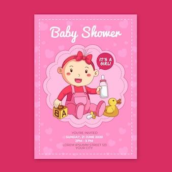 Estás invitado a baby shower para niña jugando