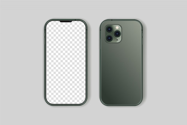 Iphone 11 pro vector aislado de alta calidad