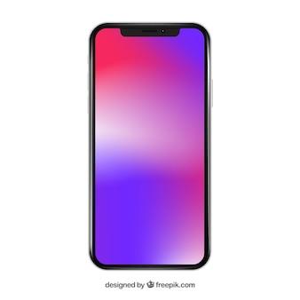 Iphone x con fondo degradado