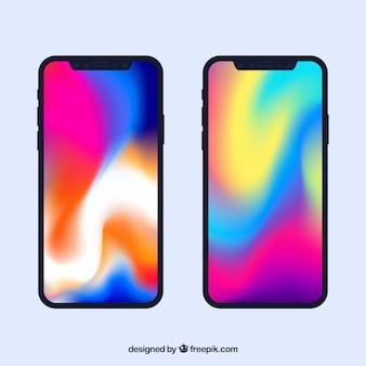 Iphone x con pantalla degradada