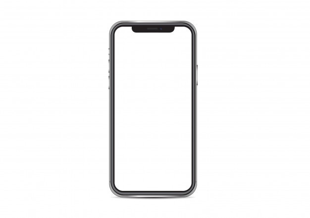 Iphone x vector de maqueta