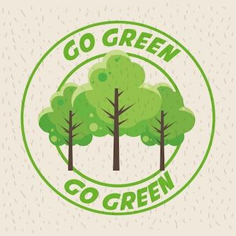 Ir día de la tierra verde