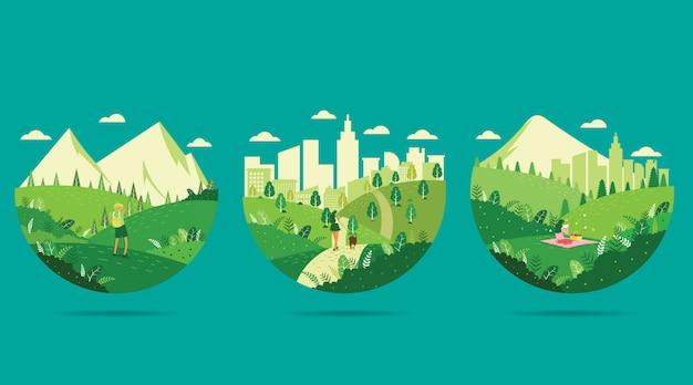 Ir ilustración verde