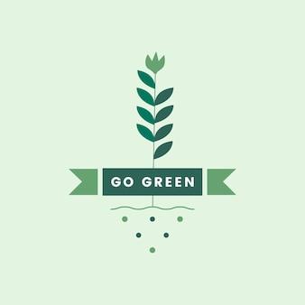Ir verde para el icono del medio ambiente