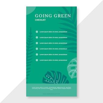 Ir verde lista de verificación