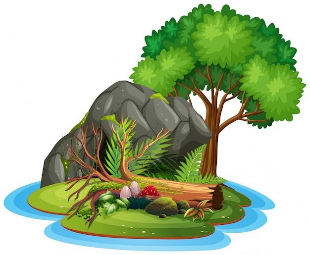 Una isla aislada de la naturaleza.