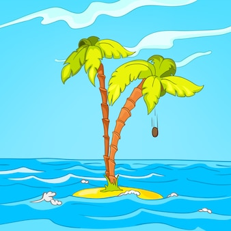 Isla de dibujos animados