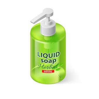 Isométrica de jabón líquido