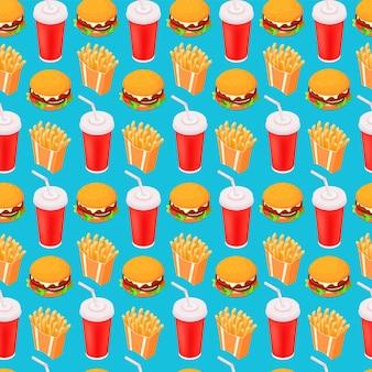 Isométrica perfecta de comida rápida