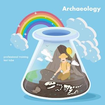 Isométrico del concepto de arqueología.