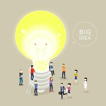 Isométrico del concepto de gran idea