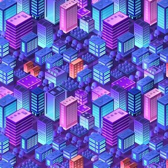 Isométrico violeta morado