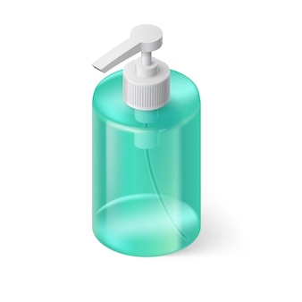 Jabón líquido isométrico