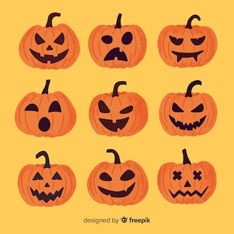 Jack o linterna dibujado a mano calabaza de halloween