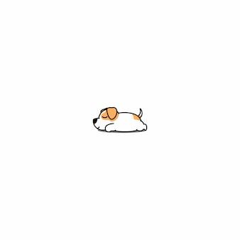 Jack russell perro durmiendo