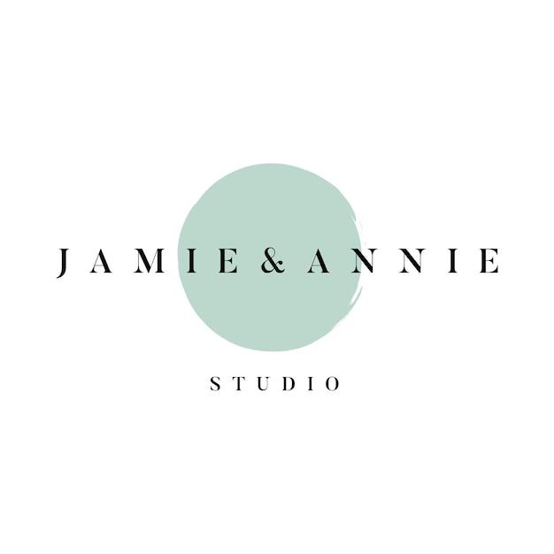 Jamie y annie studio logo vector