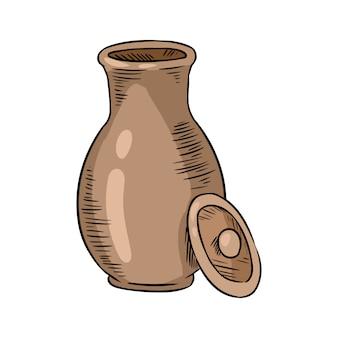 Jarra de leche de cerámica