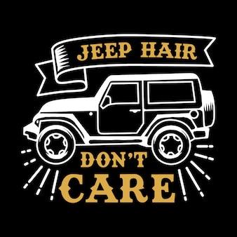 Jeep hair adventure cita y diciendo