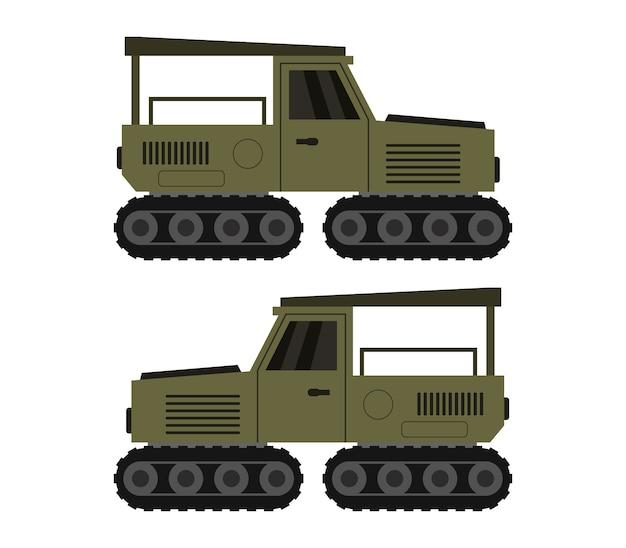 Jeep militar en blanco