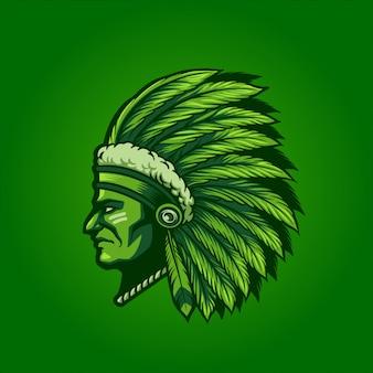 Jefe indio verde