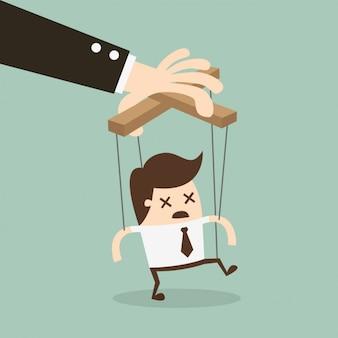 Jefe manipulando a un empleado