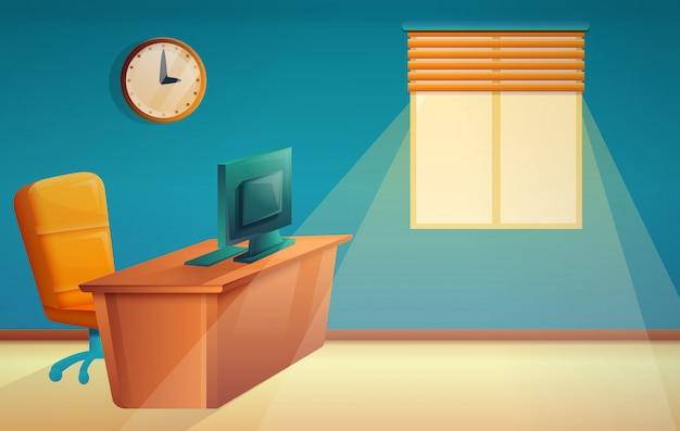 Jefe de oficina hermosa de dibujos animados, vector de ilustración