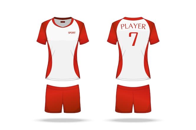 Jersey de voleibol de la especificación aislada en el fondo blanco