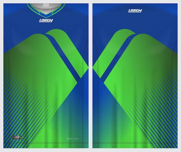 Jersey deportivo, fútbol, bádminton, corredor, plantilla de vista frontal y posterior uniforme
