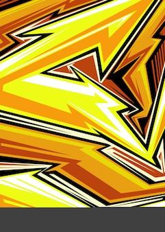 Jersey deportivo línea de flecha abstracta