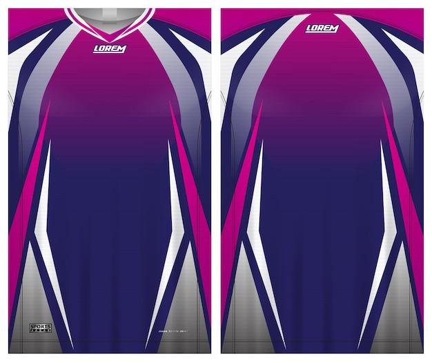 Jersey sport, plantilla de vista frontal y posterior de uniforme de fútbol