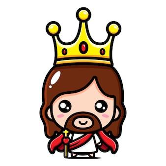 Jesucristo con el rey corona