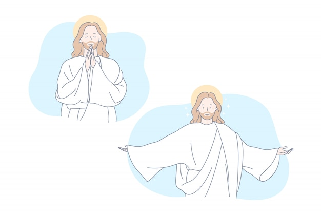 Jesús, la biblia, el cristianismo, orar establecer concepto