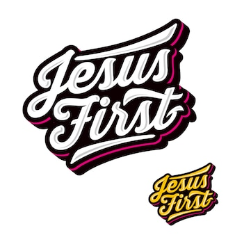 Jesus first fun modern logo