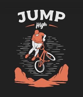 Jinete de salto bmx