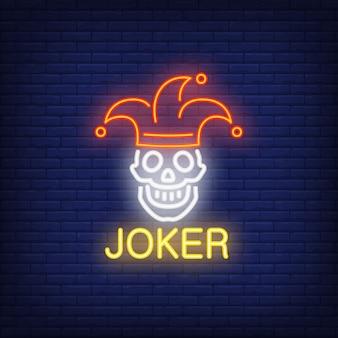 Joker letrero de neón