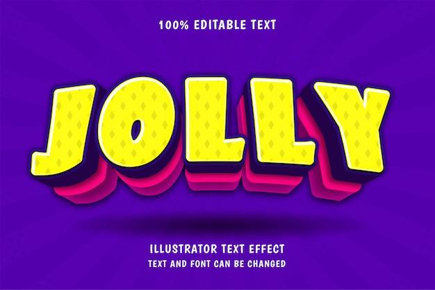 Jolly, efecto de texto editable en 3d estilo cómico moderno de sombra