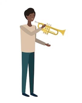 Joven con carácter de trompeta